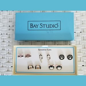 Bay Studio NEW 5 Animal Stud Pierced Earrings